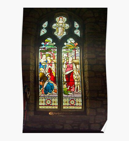 Window #1 - St Oswald's Church - Arncliffe Poster