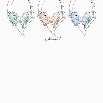 Colour Headphone by alexandersuen