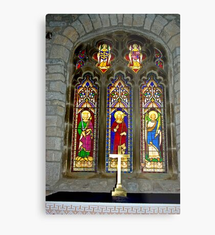 Window #2 - St Oswald's Church - Arncliffe Metal Print