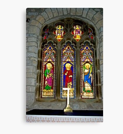 Window #2 - St Oswald's Church - Arncliffe Canvas Print