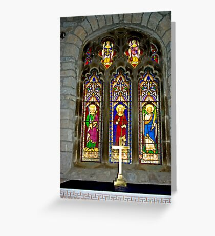 Window #2 - St Oswald's Church - Arncliffe Greeting Card