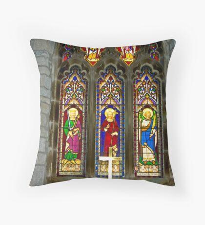 Window #2 - St Oswald's Church - Arncliffe Throw Pillow