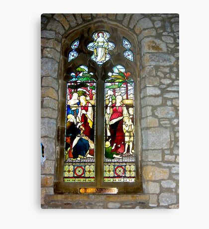 Window #3 - St Oswald's Church - Arncliffe Metal Print