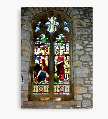 Window #3 - St Oswald's Church - Arncliffe Canvas Print
