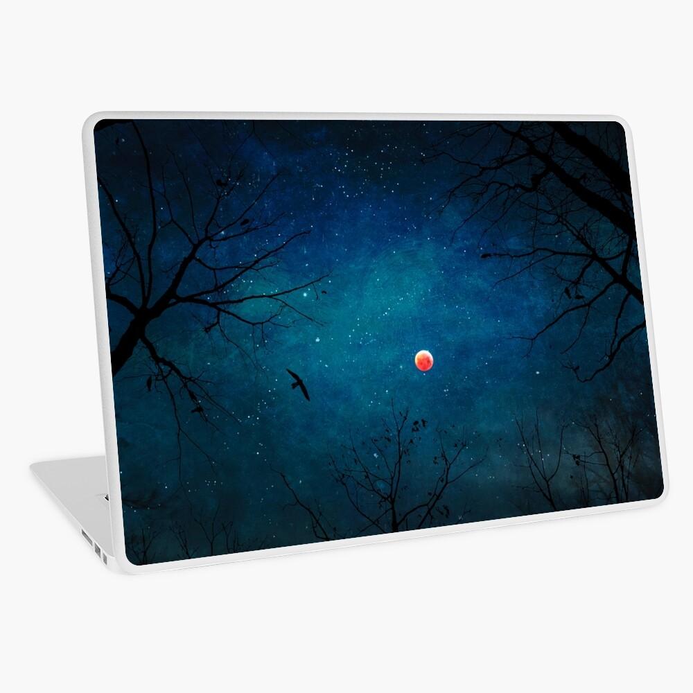 Blood Moon Through Trees Laptop Skin