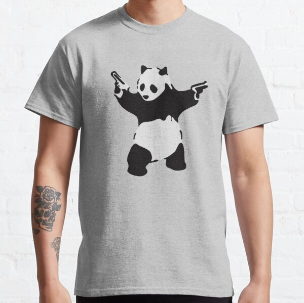 Banksy Pandamonium Armed Panda Artwork, Pandemonium Street Art, Design For Posters, Prints, Tshirts, Men, Women Classic T-Shirt