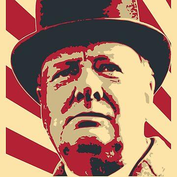 Winston Churchill Retro Propaganda by idaspark