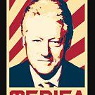 Bill Clinton Merica Retro Propaganda by idaspark