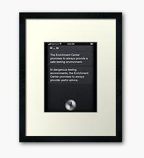GLaDOS Siri Framed Print