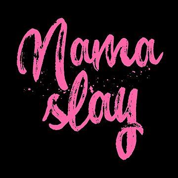 Nama-slay Namaste Funny Yoga T-Shirt Women Meditation by 14thFloor
