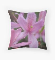 Pink Holiday Flower Throw Pillow