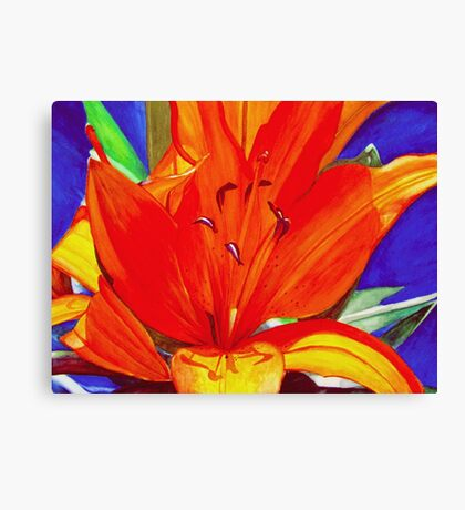 Big Orange Lily Canvas Print