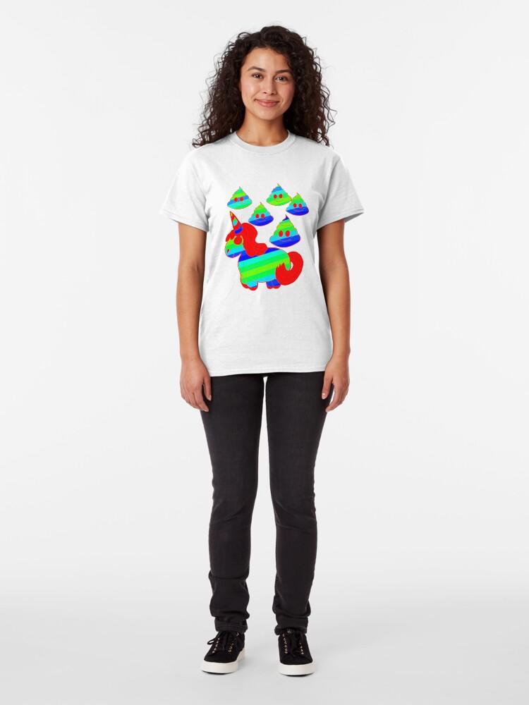 Alternative Ansicht von Chubby dfd Silly Unicorn1 Classic T-Shirt