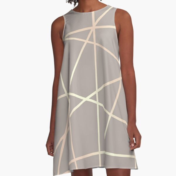 Elegant rose gold geometric pattern  A-Line Dress