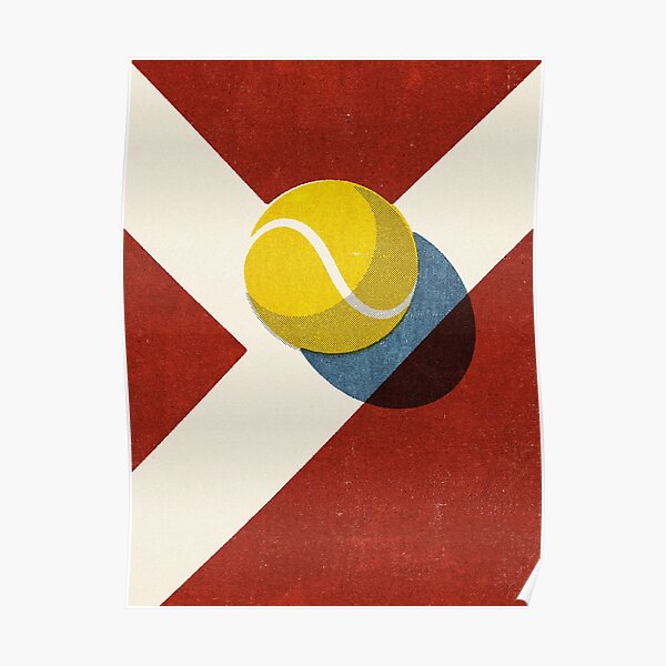BALLS / Tennis (Clay Court) Poster