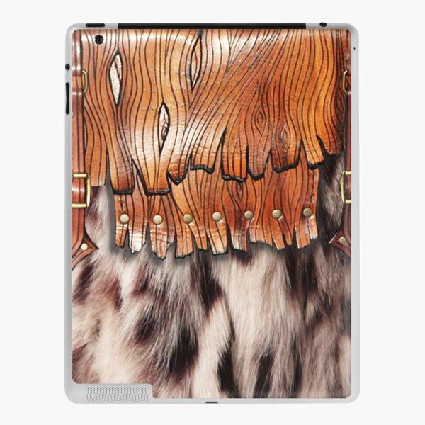 Western Style, Faux Leopard Fur, Leatherette Fringe iPad Skin