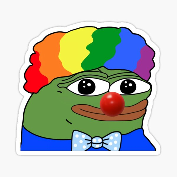 pepe der Froschclown durch Meme Sticker