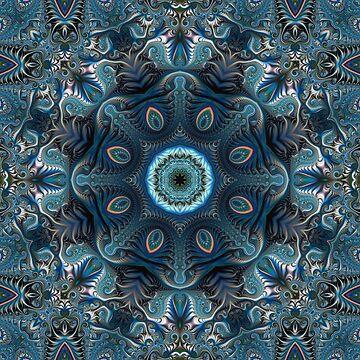 Mysterious space mandala by CatyArte