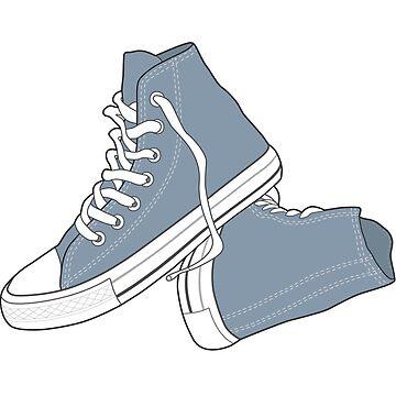 Zapato azul del dril de algodón popular del vintage retro de tlaprise