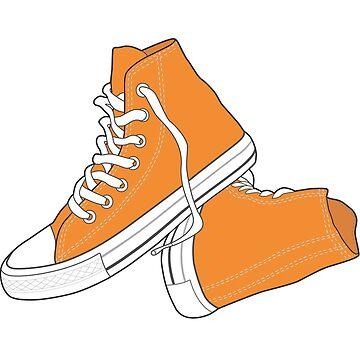 Copia del zapato naranja popular retro vintage de tlaprise