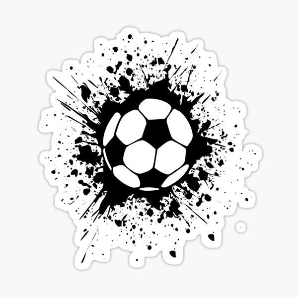 futbol: splatz de fútbol Pegatina