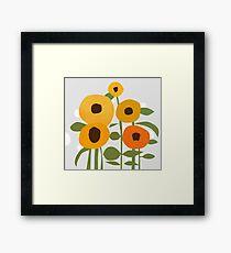 Sonnenblumen Gerahmtes Wandbild