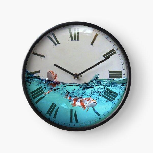 Fish in clock Clock