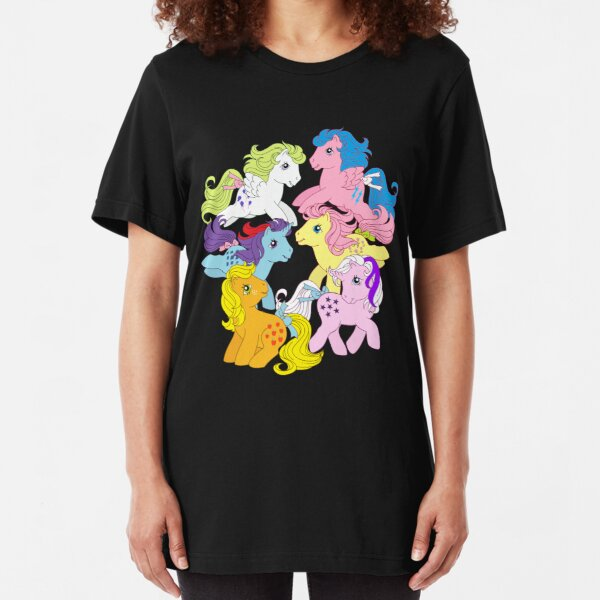 my little pony g1 mane 6 Slim Fit T-Shirt