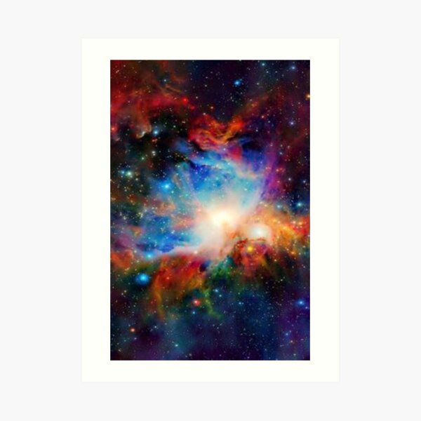 Hubble Telescope (Orion Nebula) Art Print