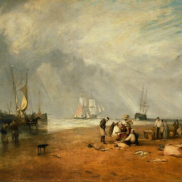 "Joseph Mallord William Turner ""The Fish Market at Hastings Beach"" by ALD1"