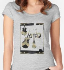 Guitar Jam Session Fitted Scoop T-Shirt