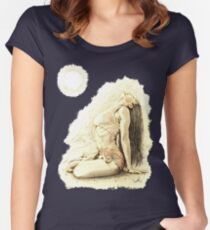 """""""At One"""" Colour Pencil Artwork Women's Fitted Scoop T-Shirt"""