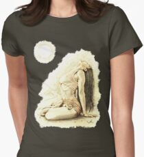 """""""At One"""" Colour Pencil Artwork Women's Fitted T-Shirt"""