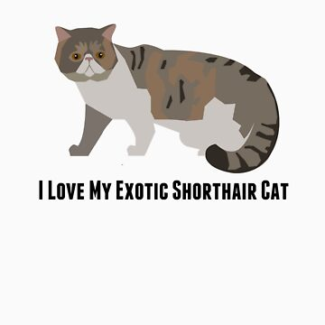 I Love My Exotic Shorthair Cat by rodie9cooper6
