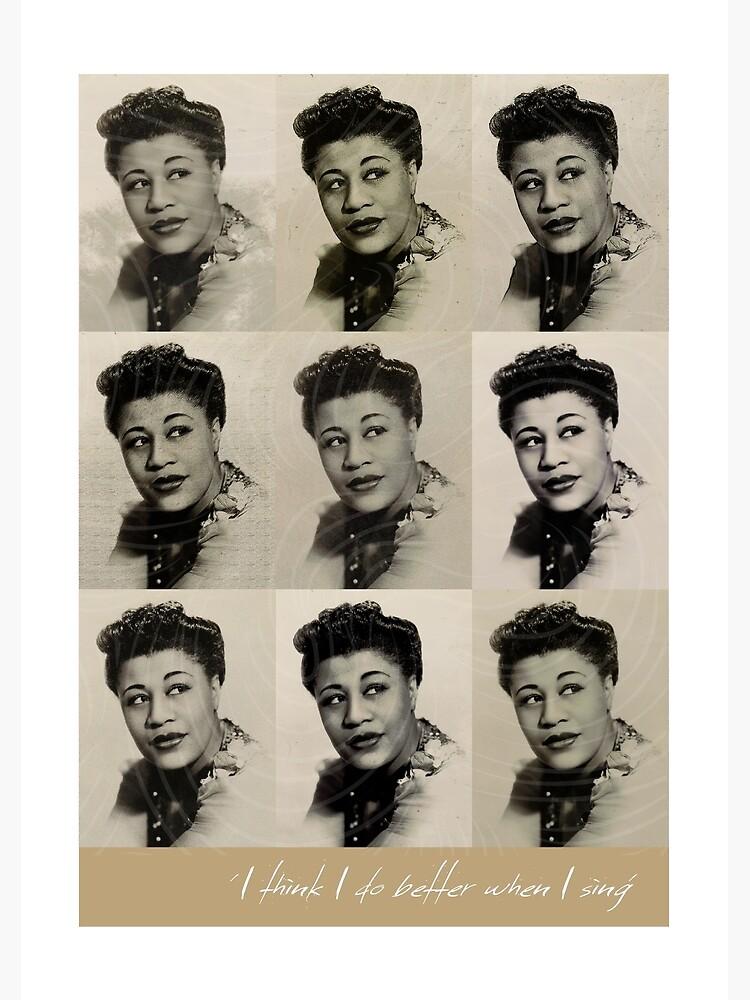 Jazz Heroes Series - Ella Fitzgerald by MoviePosterBoy