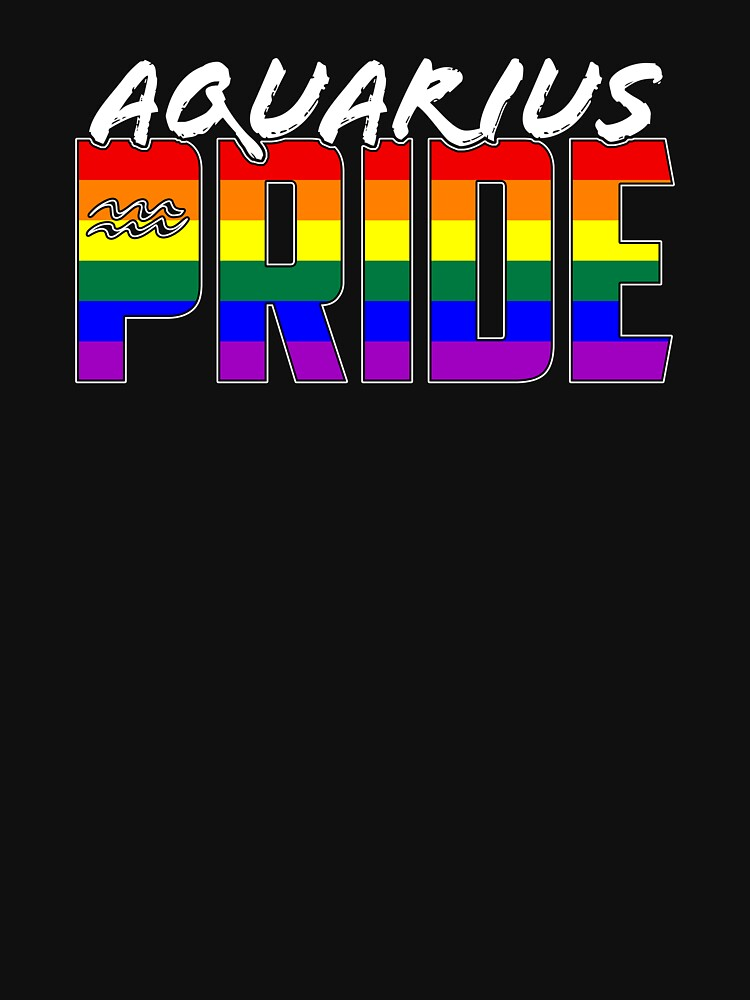 LGBT Aquarius Pride Flag Zodiac Sign by valador