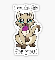 I Caught This For You! Sticker