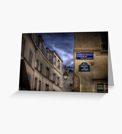 Montmartre, Paris Greeting Card