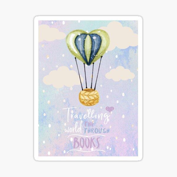 Travelling Through Books Sticker