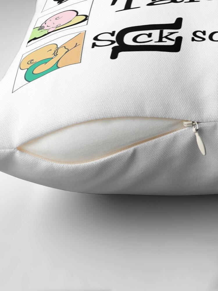 Alternate view of Humor, Joke, Text Art, (To-Do List) Baby Humor Throw Pillow