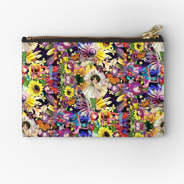 Psychedelic Spring Equinox Fairy Zipper Pouch