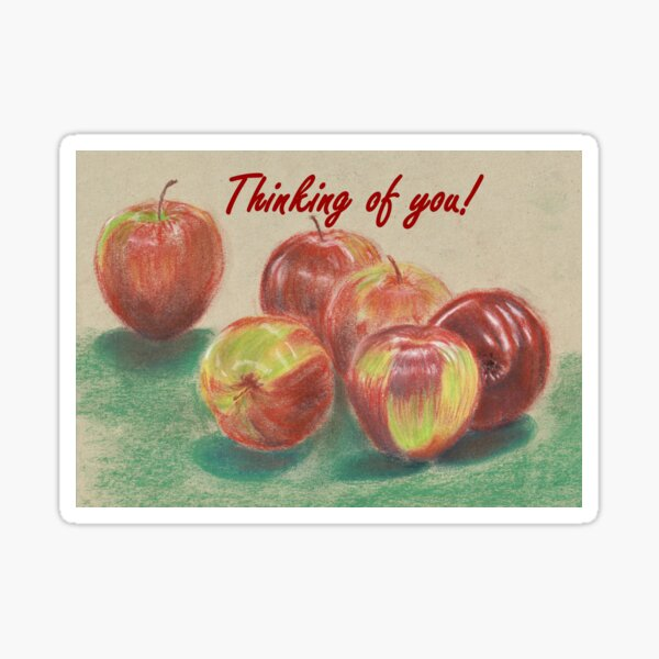 Apples - Thinking of You Sticker