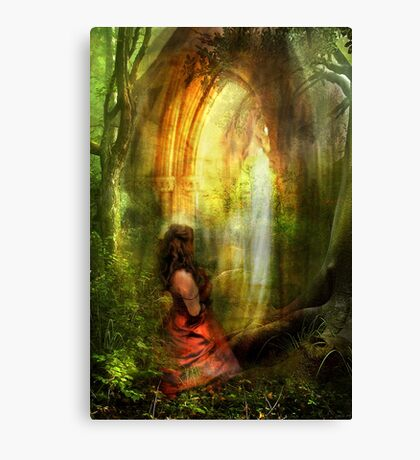 She Prayed with Prayer Canvas Print