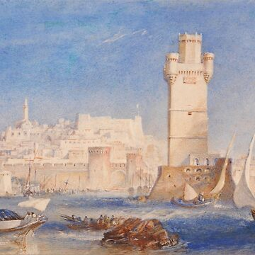 "Joseph Mallord William Turner ""Rhodes"" by ALD1"
