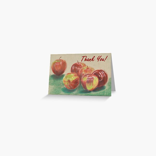 Apples - Thank You Card Greeting Card