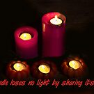 A Candle Loses No Light By Sharing Its Flame VII by Al Bourassa