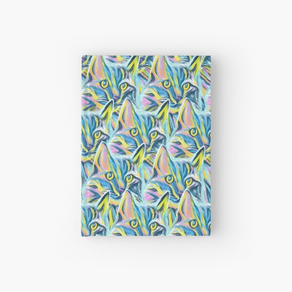 Colorful Cat Pattern Hardcover Journal