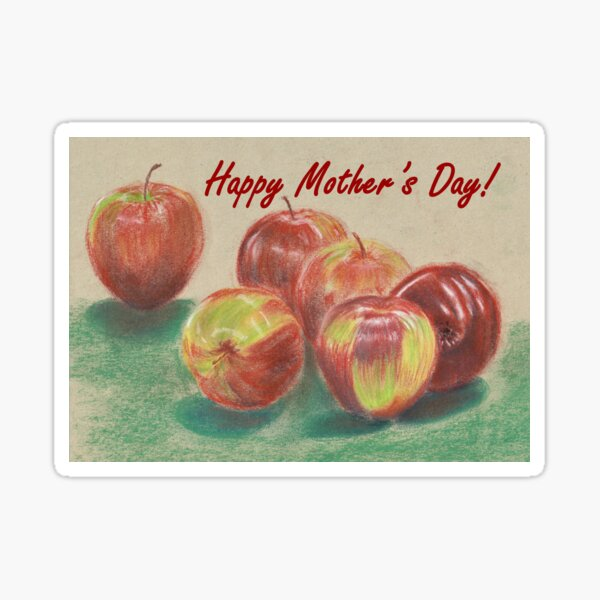 Mother's Day Card - Apples  Sticker