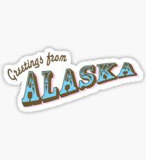 Greetings From Alaska Sticker