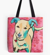 Zoe with Pink Pattern Tote Bag